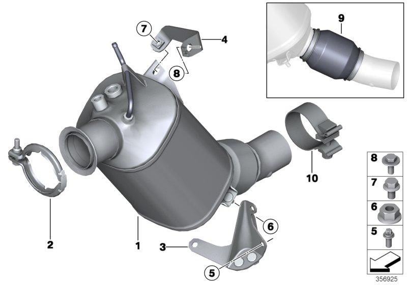 Bmw-F10-F11-Dizel-Particulate-Soot-Filter-Repair-18308508993