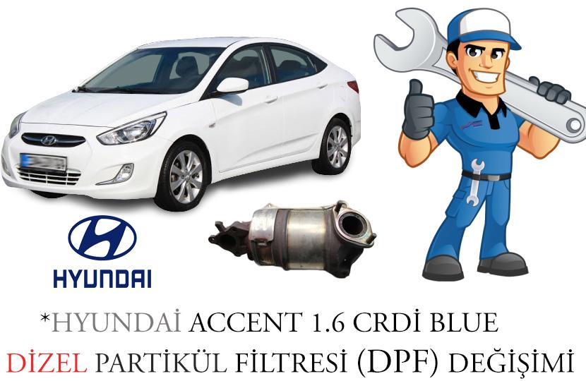 Hyundai Accent 1.6 CRDi Dizel Partikül Filtre Onarımı P2454