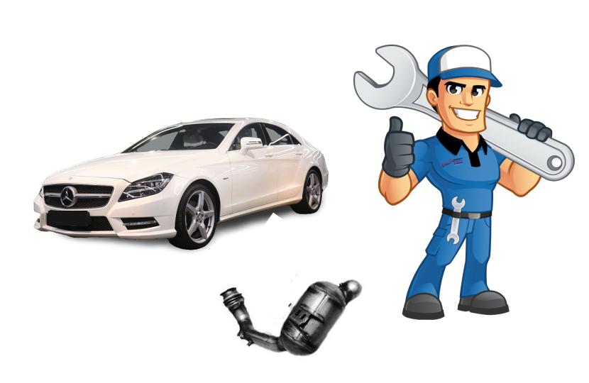 Mercedes CLS 350 CDİ Dizel Partikül Filtre Değişimi