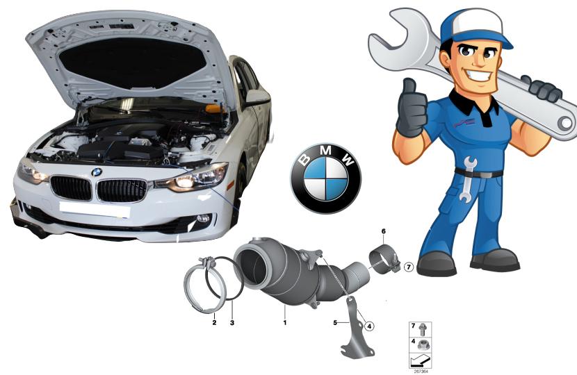 BMW F10 F30 N20 Motor Katalitik Konvertör P0420