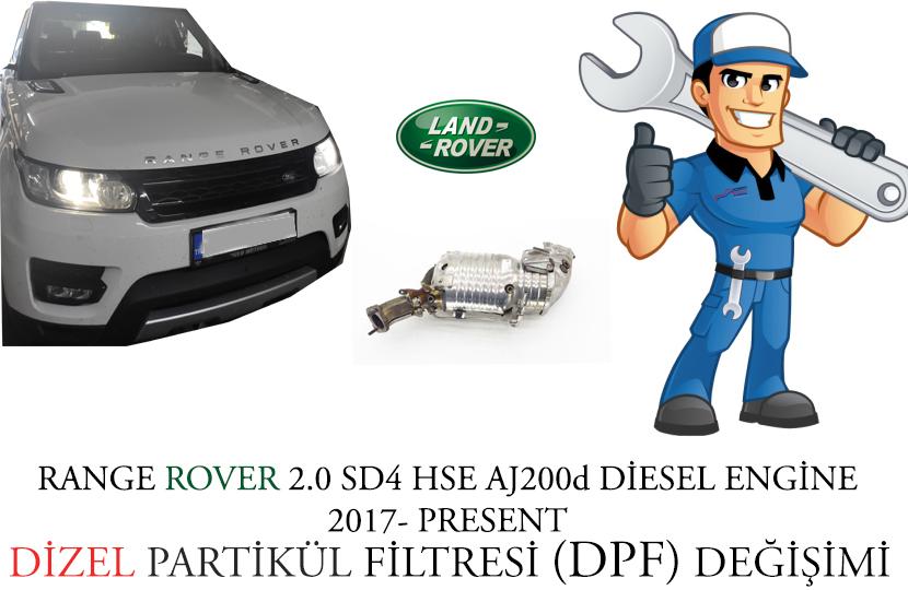 2017 Range Rover Sport 2.0 SD4 HSE Dizel Partikül Filtre Onarımı ve Arızası P2002-00