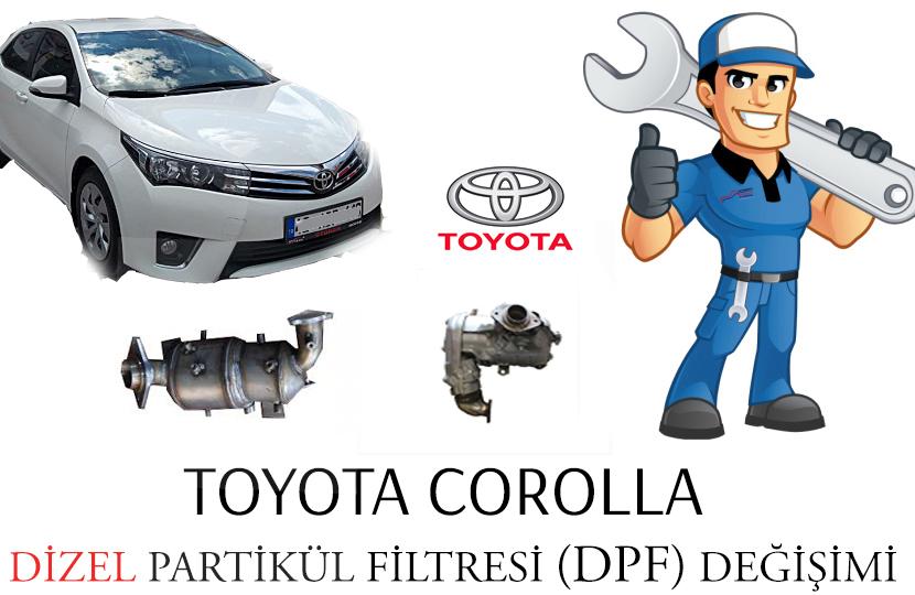 P2463 Kaynaklı TOYOTA COROLLA Dizel Partikül Filtre DPF Değişimi